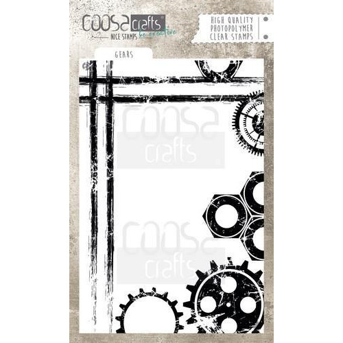 COOSA Crafts clearstamps  A6 -  Gears COC-046 (04-18)