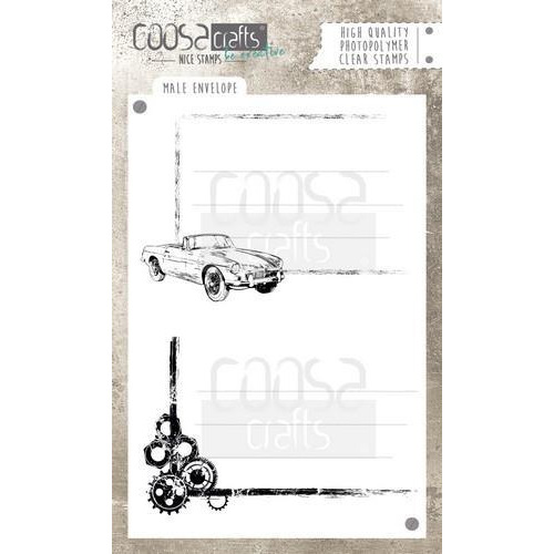 COOSA Crafts clearstamps  A6 -  Male Envelope COC-048 (04-18)
