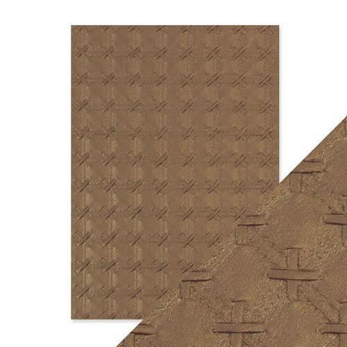 Tonic Studios embossed papier - patchwork parchment 9793E Handmade