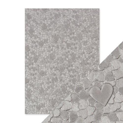 Tonic Studios embossed papier - cascading hearts 9798E Handmade
