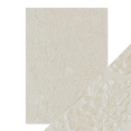 Tonic Studios embossed papier - ivory bouquet 9807E Handmade