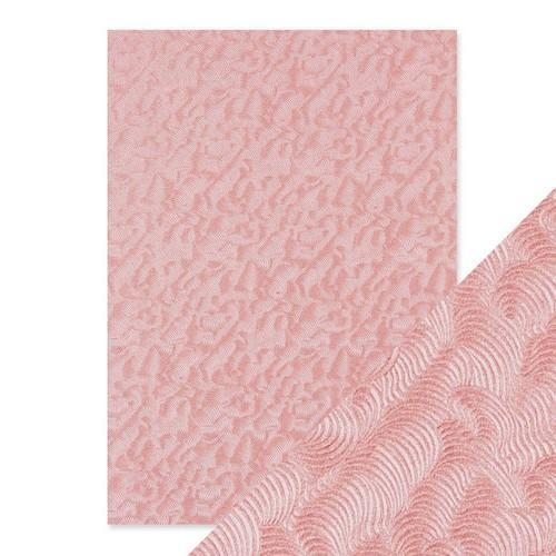 Tonic Studios embossed papier - pink champagne 9811E Handmade