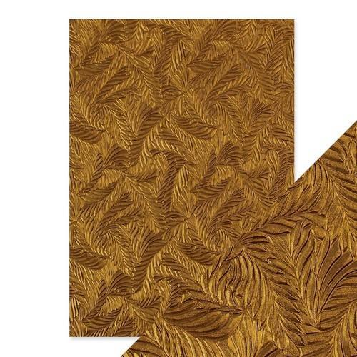 Tonic Studios embossed papier - copper feathers 9815E Handmade