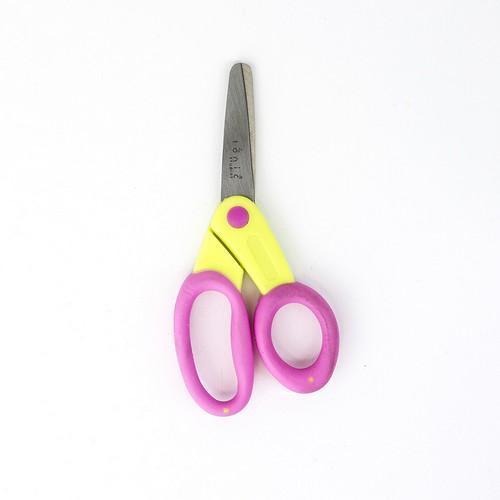 Tonic Studios Tools - kushgrip kids schaar (blunt)  yel/pink 120e