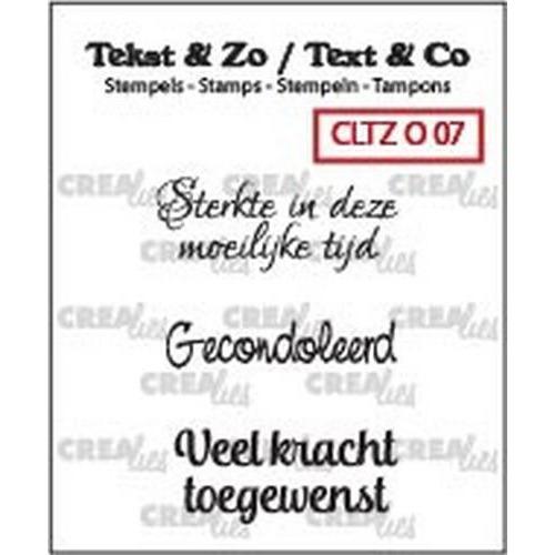 Crealies Clearstamp Tekst&Zo Overlijden 7 (NL) 33 mm CLTZ O07 (05-18)
