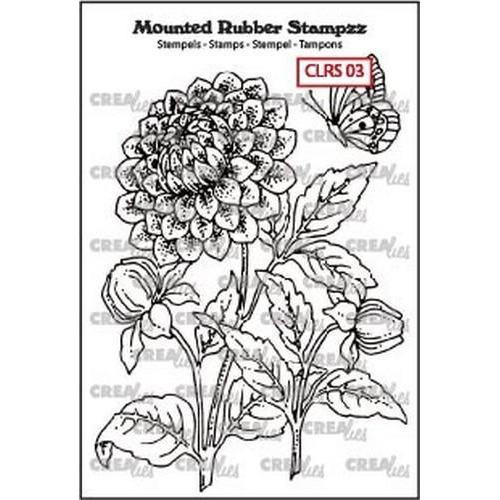 Crealies Mounted Rubber Stampzz no. 3 Dahlia CLRS03 69x97mm (05-18)