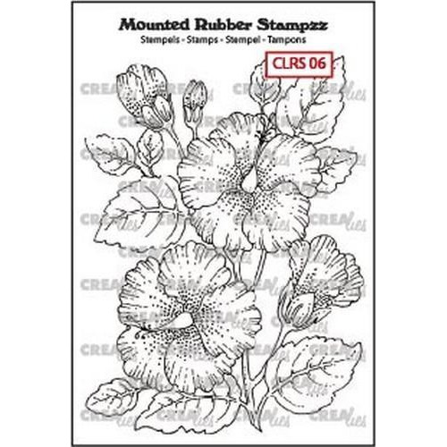 Crealies Mounted Rubber Stampzz no. 6 Hibiscus CLRS06 69x97mm (05-18)