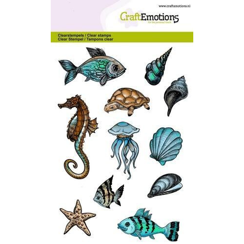 CraftEmotions clearstamps A6 - zeedieren (04-18)