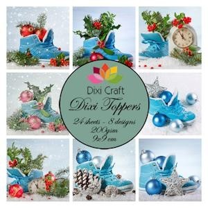 mini toppers set 9x9 cm christmas shoes