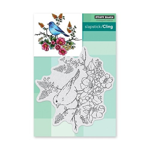 Slapstick/Cling Stamp Flower Perch