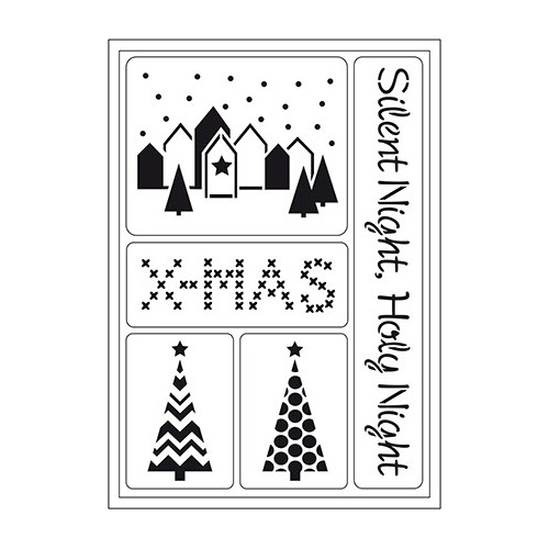 Flexible Stencils Silent Night
