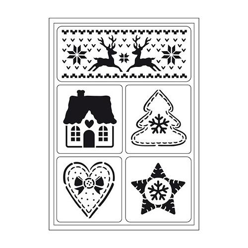 Flexible Stencils Skandinavische Weihnachten