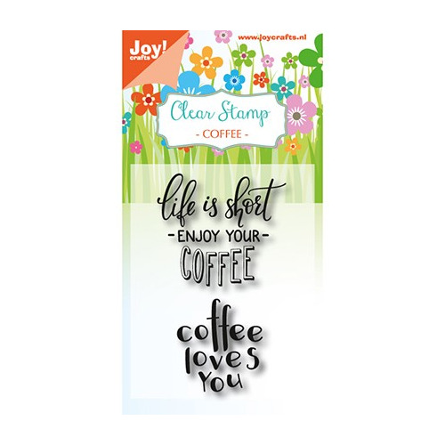 JoyCrafts Clearstempel - Coffee txt - Enjoy