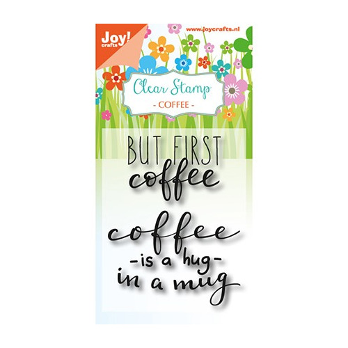 JoyCrafts Clearstempel - Coffee txt - Hug in a mug