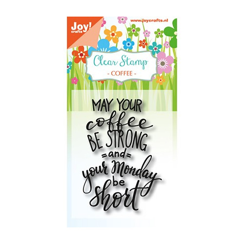 JoyCrafts Clearstempel - Coffee txt - Monday