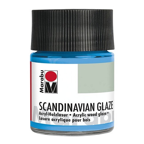 SCANDINAVIAN GLAZE, glinsterend fel blauw 50 ml