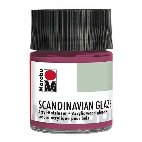 SCANDINAVIAN GLAZE, glinsterend rood 50 ml