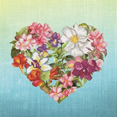 Diamond Dotz - 37 x 37cm - Flower Heart