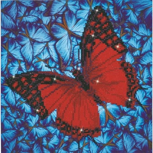 Diamond Dotz - 30.5 x 30.5cm - Flutterby Red