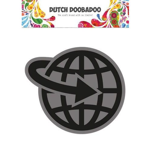 Dutch Doobadoo Foam stamps Airplane World 494.902.004 50x57,6mm (05-18)