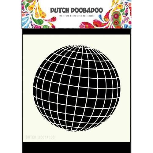 Dutch Doobadoo Dutch Mask Art 15x15cm aardbol 470715610 (05-18)