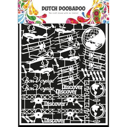 Dutch Doobadoo Dutch Paper Art vliegtuig - A5 472948050 (05-18)