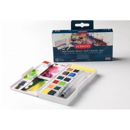 Derwent Inktense Paint Pan Travel Set 12 kleuren DIB2302636 (05-17)