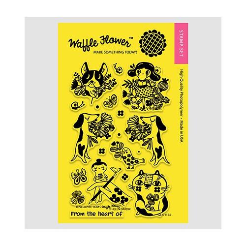 Waffle Flower - enveloper from