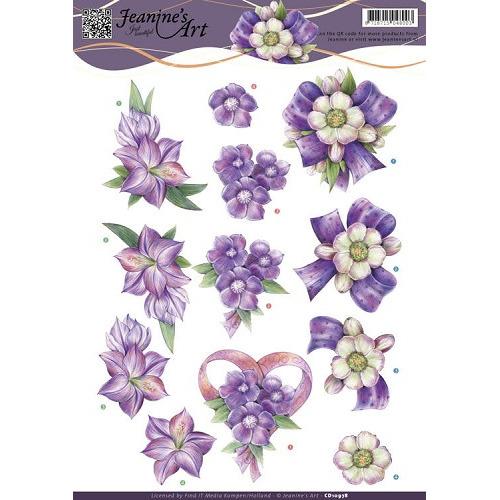 3D knipvel Jeanine`s Art - Think Purple