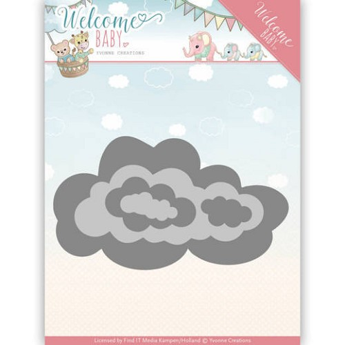 Dies - Yvonne Creations - Welcome Baby - Nesting Clouds