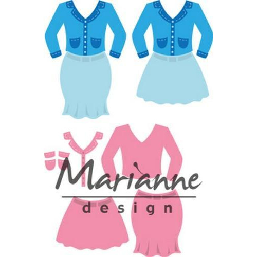 Marianne D Collectable Lady`s suit COL1453 70x73 mm (06-18)