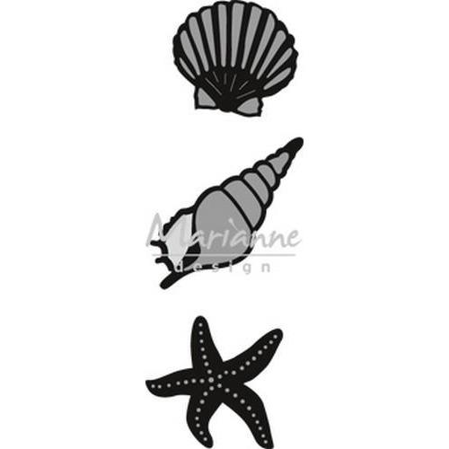 Marianne D Craftable zee schelpen CR1440 31x29-38x38 mm (06-18)