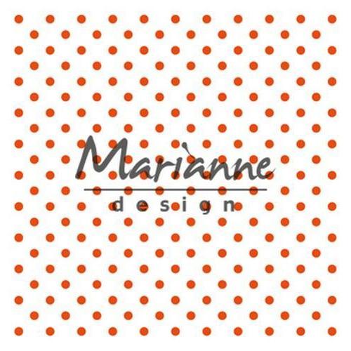 Marianne D Embossing folder Polka Dots DF3447 141x141 mm (06-18)