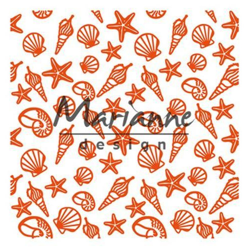 Marianne D Embossing folder zeeschelpen DF3448 141x141 mm (06-18)