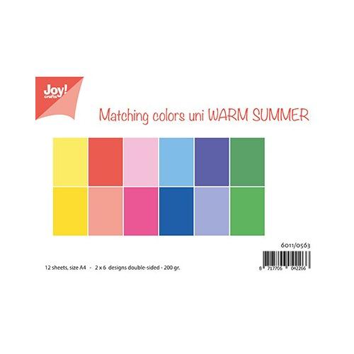 Papierset - Matching Colors - Warm Summer