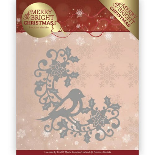 Dies - Precious Marieke - Merry and Bright Christmas - Bird Corner