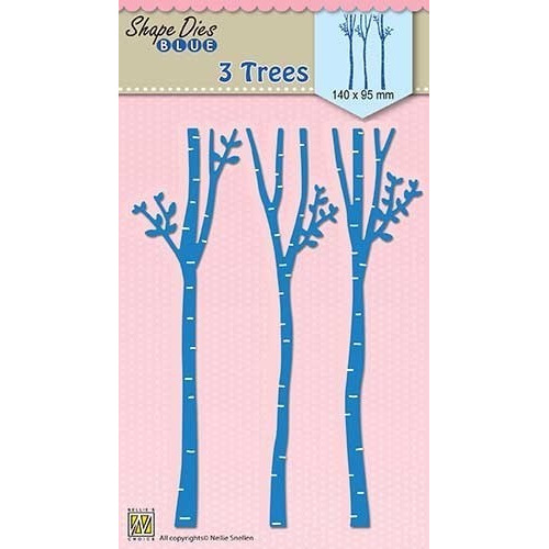 "Shape Dies blue ""3-trees"""