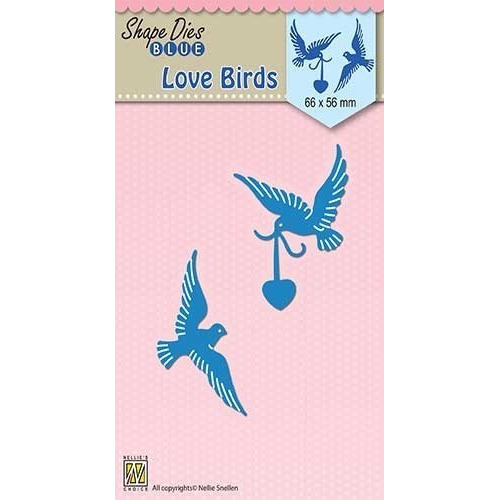"Shape Dies blue ""Love birds"""