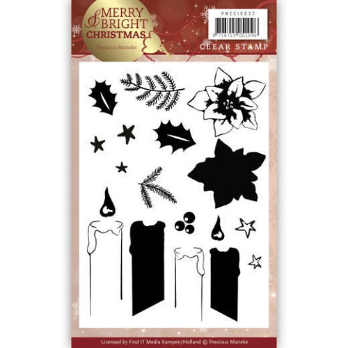 Clear Stamp - Precious Marieke - Merry and Bright Christmas - Candle