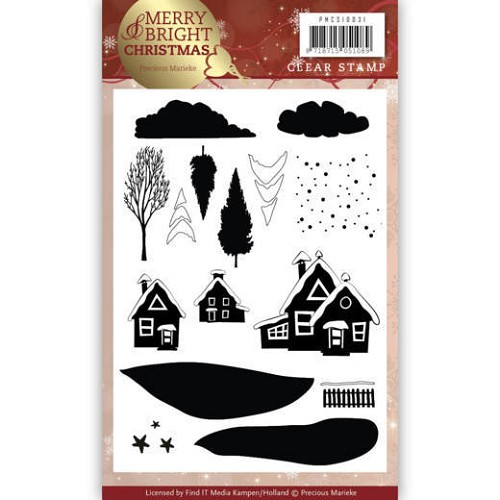 Clear Stamp - Precious Marieke - Merry and Bright Christmas - Christmas House
