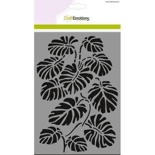 CraftEmotions Mask stencil - tak Monstera bladen A5 (new 05-18)