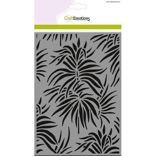 CraftEmotions Mask stencil - achtergrond bladeren tropen A5 (new 05-18)