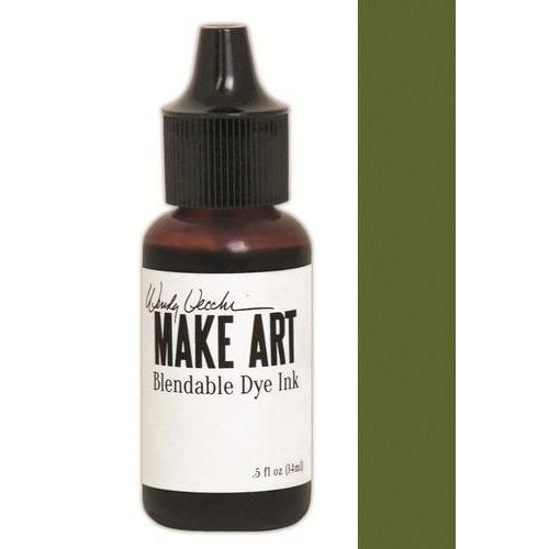 Ranger MAKE ART Dye Ink Pad Reinkers Fern Green WVR62714 Wendy Vecchi 15ml  (05-18)