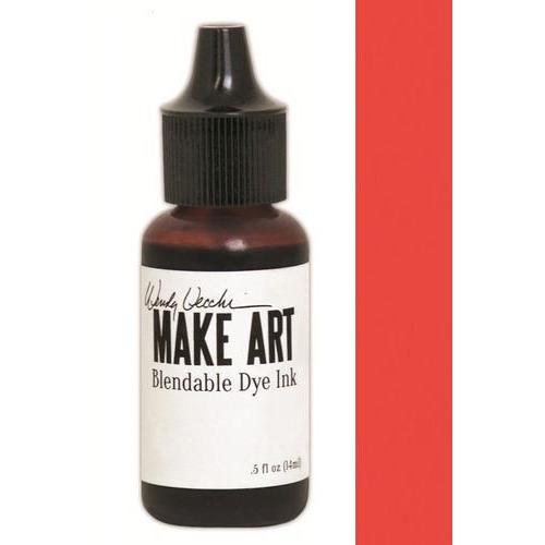 Ranger MAKE ART Dye Ink Pad Reinkers Poppy WVR62745 Wendy Vecchi 15ml  (05-18)