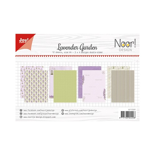 Papier Set A4 Papierset - Lavender Garden