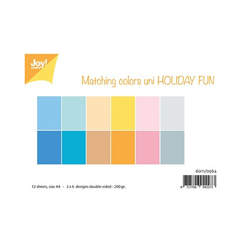 Papier Set A4 Papierset - Matching Colors Uni - Holiday Fun