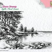 "Clear Stamps idyllic floral scene ""Waters edge"""