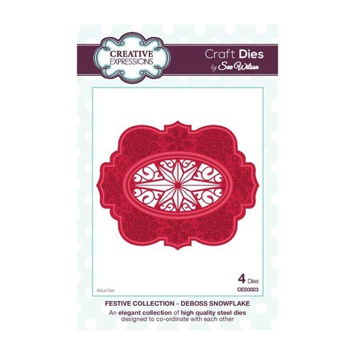 The Festive Collection Deboss Snowflake