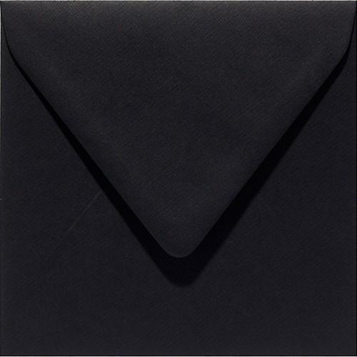 Papicolor Envelop vierk. 14cm ravenzwart 105gr-CV 6 st 303901 - 140x140 mm