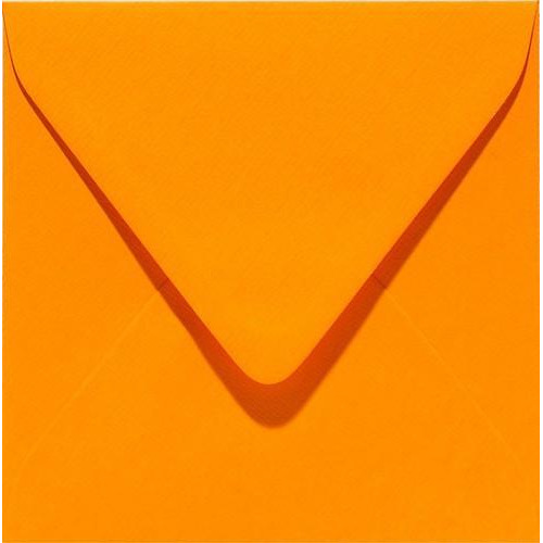 Papicolor Envelop vierk. 14cm oranje 105gr-CV 6 st 303911 - 140x140 mm